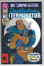 1992 DC Comic Deathstroke the Terminator Annual #1 VF with Nightwing & Vigilante