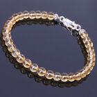 Handmade Men Women Gemstone Bracelet Citrine 925 Sterling Silver DIY-KAREN 381