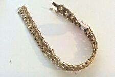 Sterling Silver Gold Tone 8 Inch Inch Bracelet