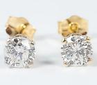 ❄❄ Boucles d'oreilles puces Diamants véritable H VS Or Jaune 18K 750 BO 0.60 ❄❄