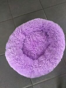 Pet Bed Dog Cat Bed Shag Warm Fluffy Comfy Round Nest Mattress. Size small