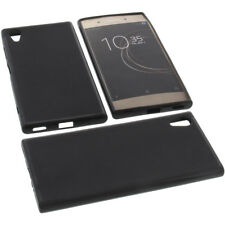 BOLSA para Sony Xperia XA1 Plus Funda protectora de móvil TPU GOMA FUNDA NEGRA