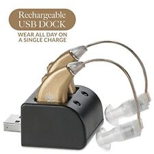 Digital Hearing Amplifiers - Rechargeable BTE Personal Sound Amplifier Pair with