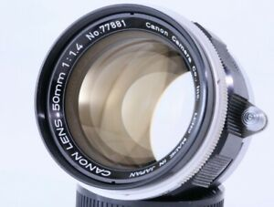 """Canon 50mm F1.4 Leica Screw Mount LTM39 Lens,""""MINT"""" From Japan#7788"""
