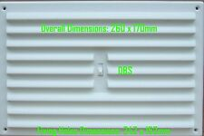 """9"""" x 6"""" White Plastic Hit and Miss Adjustable Louvre Grill Vent Wall  Air Vent"""