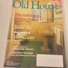 Old House Magazine Finishing Touches Bath Tiles October 2002 071217nonrh
