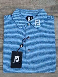 NEW FootJoy Mens Lisle Solid w/ Heather Pin Stripe Golf Polo Small 25550