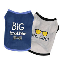 Cute Pet Dog Clothes Summer Letter Printed Cotton Vest T-shirts Small Cat Puppy