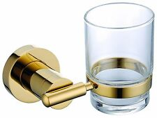 Gold clour  BATHROOM ACCESSORIES single cup tumbler holder round  design