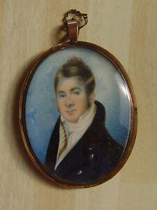Portrait miniature, hairwork and seedpearl reverse, handsome Georgian gent