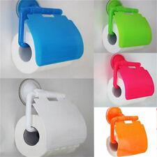 Fashion Holder Roll Paper Tissue Box Sucker Toilet Paper Bathroom Wall Mounted T