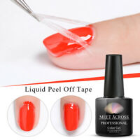 MEET ACROSS Nail Art Latex Peel Off Liquid Tape Nail Polish UV LED Manicure 7ML
