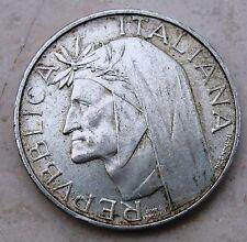 500 Lire  Repubblica Italiana 700° DANTE ALIGHIERI in Argento- BB - n. 923