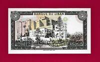 LARGE Beautiful Lebanon Liban UNC- Banknote 50 Livres 1988 (Pick-65) Last Issued