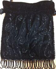 Lord and Taylor Handbag Shoulder Bag Drawstring Closure