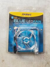 Antec TriCool 80mm Blue LED Fan 3 Speed Switch 3-Pin/4-Pin Power Connector NEW