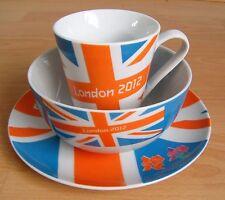 New Tableware London 2012 Olympic Union Jack Plate Bowl Mug 3Pc Dining Gift Set