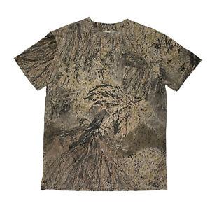 Men's Mossy Oak Brush Camo Short Sleeve T Shirt Hunting Camouflage Large