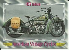 """1936 Indian- card from """"American Vintage Cycles""""  Promo Card #16"""