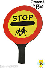 CHILDRENS ROAD SAFETY LOLLIPOP LADY MAN FANCY DRESS PATROL CROSSING SIGN STICK