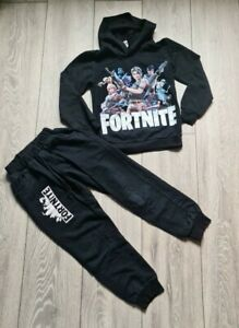 Boys Fortnite Tracksuit Hoodie Jumper Joggers Bottoms Size 7-8 Years