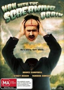 The Man With The Screaming Brain (DVD) 2005 Bruce Campbell  Schlock Horror Movie