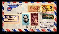 New Zealand 1966 Belnheim Registered Cover to Suriname - L17033