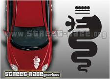 ALFA ROMEO OTT 006 cofano logo grafica Adesivi Decalcomanie Giuletta 147 SPARK MITO