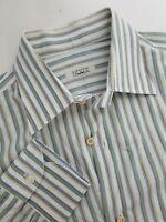 Isaia Napoli Men's Striped Dress Shirt Size 16.5-32 (42 EU) Made in Italy