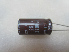 2 condensateurs 2700uF 25V 105°C Nippon Chemicon LXF
