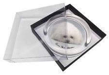 Bichon Frise Dog 'Love You Mum' Glass Paperweight in Gift Box Christma, MUM-D2PW