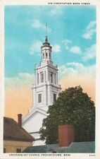 Antique POSTCARD c1910-20s Wren Tower Universalist Church PROVINCETOWN, MA
