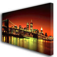 NEW YORK TWIN TOWERS CANVAS ART BOX PRINT PICTURE 213