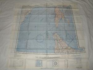 WW2 AAF Silk Escape Map Russia & Japan NK53 Vladimiro NL54 Otomari 1943