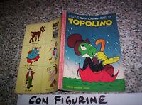 TOPOLINO LIBRETTO N.232 ORIGINALE MONDADORI DISNEY 1960 CON BOLLINO E FIGURINE