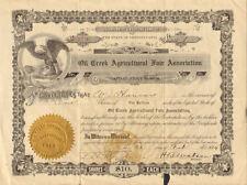 Oil Creek Agricultural Fair Association > 1919 Pennsylvania stock certificate