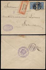 PORTUGAL REGISTERED MAIL 1898...SWITZERLAND DIPLOMATIC