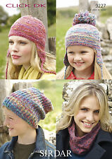 Womens Knitting Pattern - Neck Warmer, Hats - 9227 - Click DK