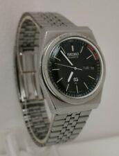 Vtg 1980 Seiko 7223-6010 SQ Alarm Quartz Day Date Gents Watch on Original Strap