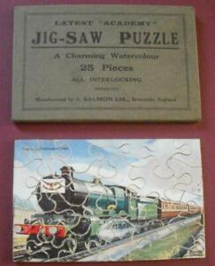 Vintage Postcard Sized Salmon Academy Jigsaw Cheltenham Flyer by Roland Davies