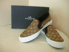 Authentic Coach Chrissy A00245 Outline Sig C/Nap Khaki/Chestnut Shoes Size 7.5