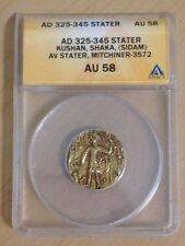 AD 325-345 GOLD STATER KUSHAN,SHAKA,(SIDOM) AV STATER ,MITCHINER-3572