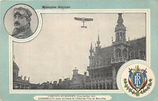 CPA BELGIQUE BRUXELLES MONOPLAN SOMMER AVIATION CIRCUIT EUROPEEN 1911 KIMMERLING