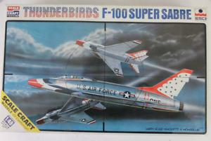 ESCI/ Scale Craft Models USAF Thunderbirds, F-100 Super Sabre in 1/48 4017