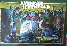 AVENGED SEVENFOLD FILLMORE POSTER Saosin DEATH BY STEREO Original B Graham F737