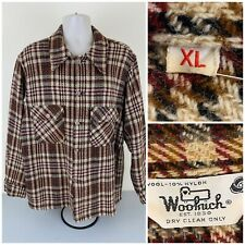 VINTAGE Woolrich Men Plaid Jacket Shirt XL Wool Pockets Lining - Excellent