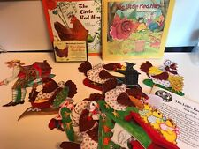 The Little Red Hen Felt set for Story Board book on tape with teaching lesson
