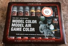 Model Game Color Vallejo Box of 16 Various Tubes 17ml