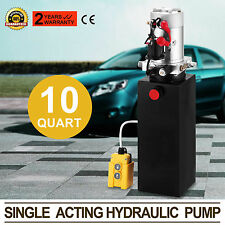 12V Electric Single Acting Manual Hydraulic Pump High Pressure Pump  10 Quart