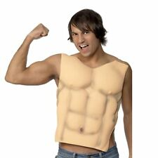 Adult Mens EVA Muscle Chest 6 Pack Abs Gym Stag Do Fancy Dress Novelty Accessory